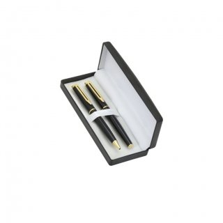 Personalized Diners Club Black Pen Set With Box