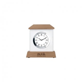 """Personalized Dlf Engraving Area Table Clock (0.5'X2.25"""")"""