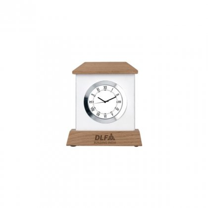 "Personalized Dlf Engraving Area Table Clock (0.5'X2.25"")"