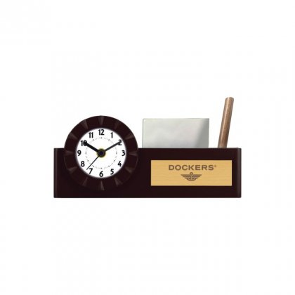 "Personalized Dockers Engraving Area Table Clock (2.5""X1"")"