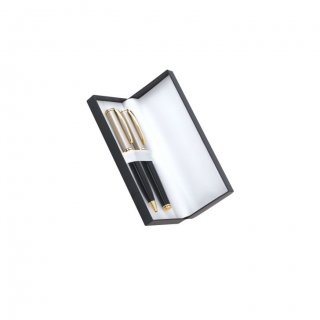 Personalized Donaldson Black-Golden Pen Set With Box