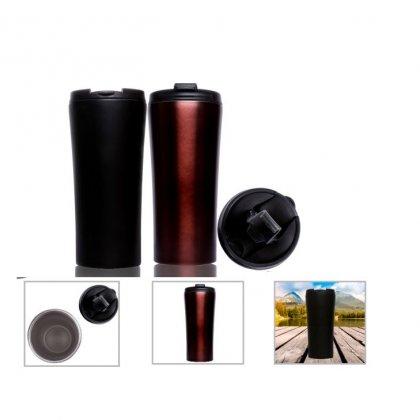 Personalized Double Wall Ss Mug (500Ml) (A Q U A - Bristo) / Black, Bronze
