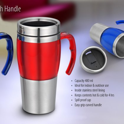 Personalized Dual Steel Mug (480 Ml)