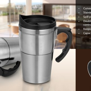 Personalized Dual Transparent Steel Mug (400 Ml)