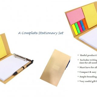 Personalized Eco Clip Board Set