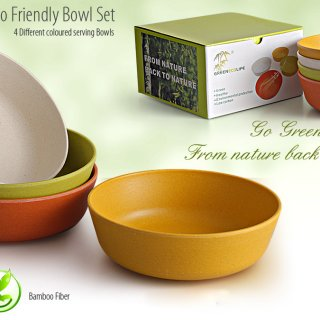 Personalized Eco Friendly Bowl Set - 4 Pc Set