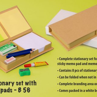 Personalized eco stationery set with memo pads