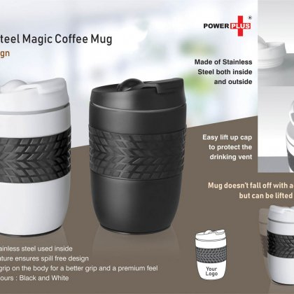 Personalized Ferrero Stainless Steel Magic Coffee Mug (300 Ml Approx) (Spill Free Design)