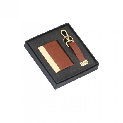 Personalized Ferroli (Key Chain+ Visiting Card) Gift Set