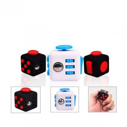 Personalized Fidget Cube (Keychains - Fidget Cube) / White/Blue