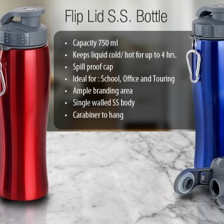 Personalized Flip Lid Ss Bottle (750 Ml)