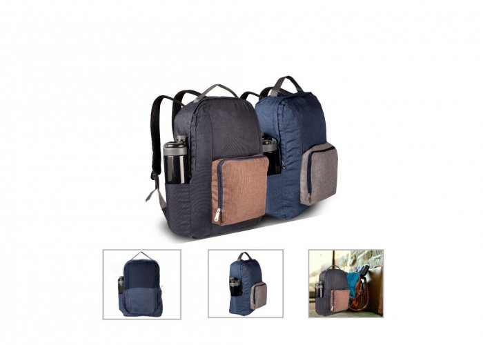 Personalized Folding Backpack (R H Y T H M - Ipacy 2.0) / Midnight Gray, Dark Blue