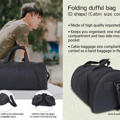 Personalized Folding Duffel Bag (D Shape) (Cabin Size Compliant)