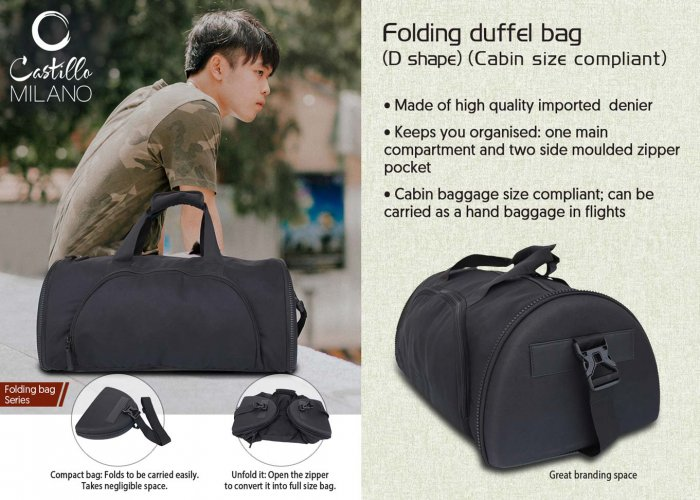 88fb037cdc3 Personalized Folding Duffel Bag (D Shape) (Cabin Size Compliant) In ...