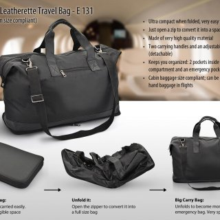 New Personalized folding travel bag (leatherette) (flight cabin size  compliant) bf254baccc