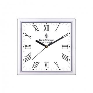 "Personalized Four Seasons Wall Clock (9""X9"")"