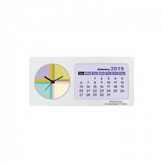 """Personalized French Connection Colour Printing Table Clock (0.5""""X1.5"""")"""
