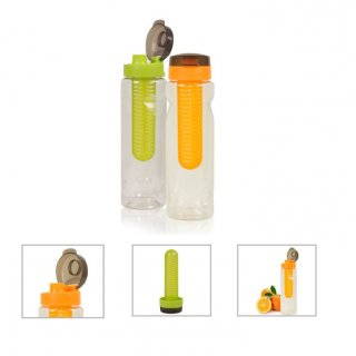 Personalized Fruit Infuser Bottle (A Q U A - Fruity) / Orange, Green
