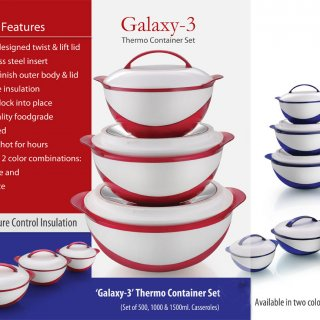 Personalized Galaxy: 3 Pc Casserole Set (Total Capacity 3L)