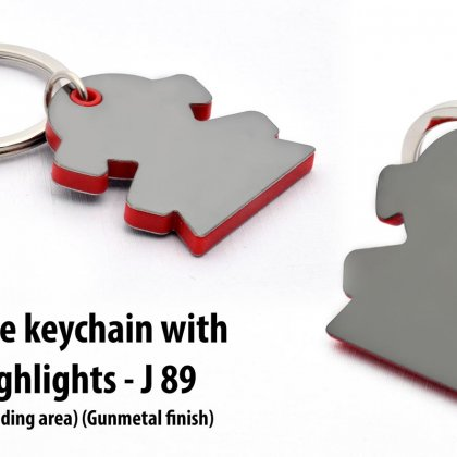 Personalized girl shape keychain with highlights