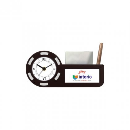 "Personalized Godrej Interio Printing Size Table Clock (2.5""X0.75"")"
