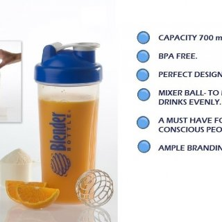Personalized Gym Shaker With Steel Ball (700 Ml)