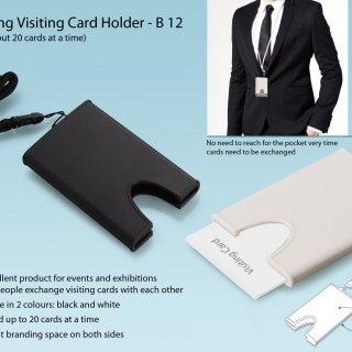 Personalized hanging visiting card holder