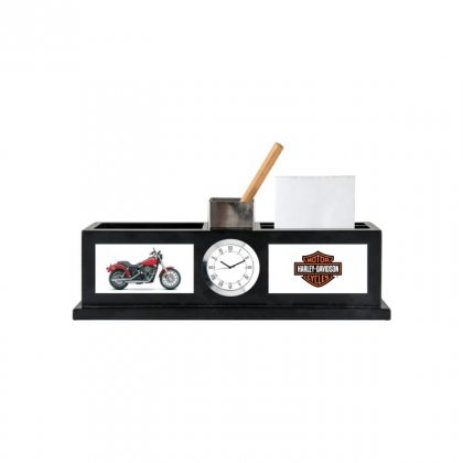 """Personalized Harley Davidson Colour Printing Table Clock (1.5""""X3"""")"""