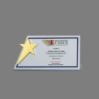 Personalized Health Set Go Star Trophy