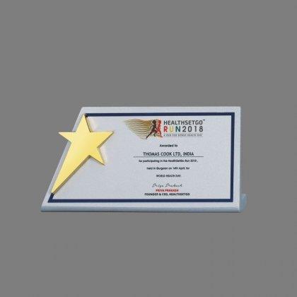 Personalized Health Set Go Star Trophy