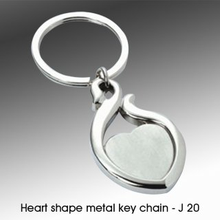 Personalized heart shape metal keychain
