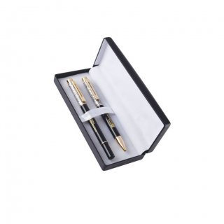 Personalized Hilton Garden Inn Gold/Black Pen Set With Box