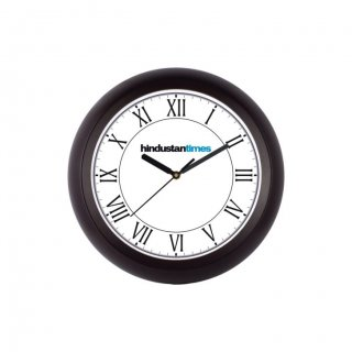 "Personalized Hindustan Times Chrome Plated Wall Clock (9.5"" Dia)"