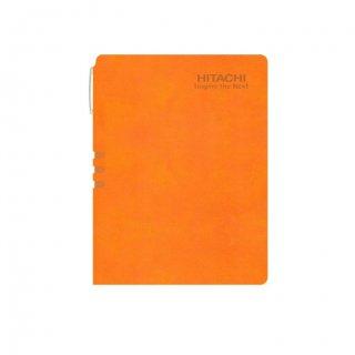 Personalized Hitachi A5 Notebook (Orange)