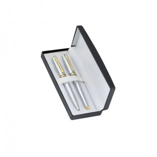 Personalized Horizion Silver/Gold Pen Set With Box