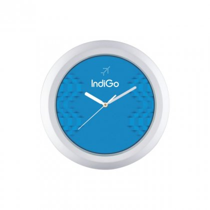 "Personalized Indigo Wall Clock (9.5"" Dia)"