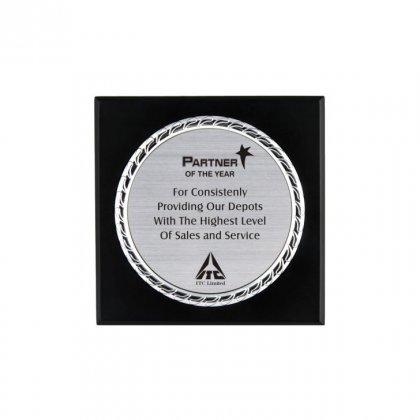 "Personalized Itc Engraving Area Memento (4"" Dia)"