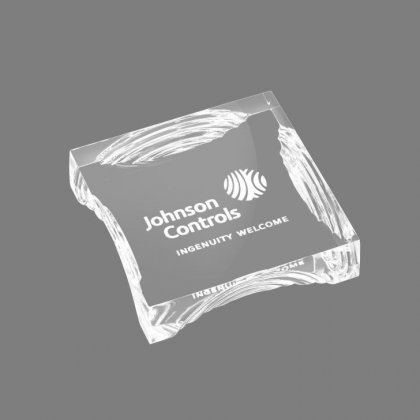 Personalized Johnson Controls Paper Weight Paper Weight
