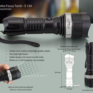 Personalized jumbo focus torch (with zoom in/out function)