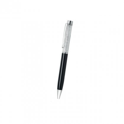 Personalized Kalyan Jewellers Black-Silver Metal Pen With Box