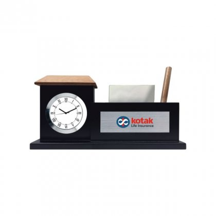 "Personalized Kotak Colour Printing Table Clock (1.5""X3.25"")"