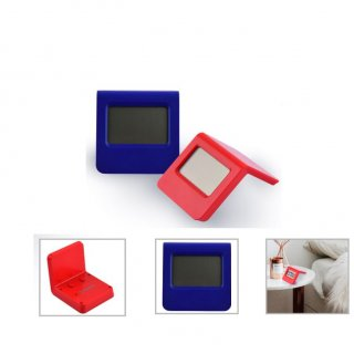 Personalized Lcd Alram Clocks (T O C S - Arc) / Red