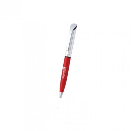 Personalized Leonardo Red-Silver Metal Pen