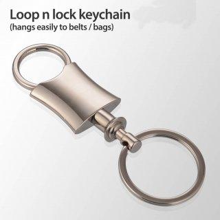 Personalized Loop N Lock Keychain