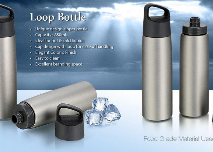 Personalized Loop Steel Bottle (850 Ml)