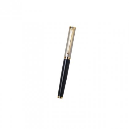 Personalized Luxair (Roller) Black-Golden Metal Pen With Box