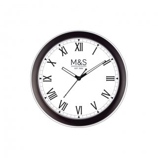 "Personalized M&S Ecoline Wall Clock (9"" Dia)"