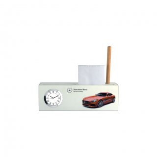 "Personalized Mercedes Colour Printing Table Clock (2.25""X5.25"")"