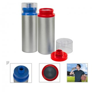 Personalized Metal Sports Bottle - 750Ml (Bpa Free) (J O T T E R S - Matte (New)) / Silver (Blue, Red)
