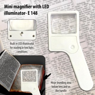 Personalized mini magnifier with torch